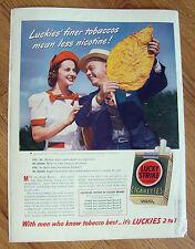 1940 Lucky Strike Cigarette Ad Frank Brown Tobacco Warehouseman