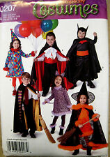 Simplicity Childs Girls Boys Vampire Batman Witch Costume Pattern 0207 1584 UC