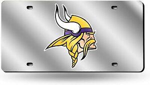 Minnesota Vikings NFL Silver Laser Tag License Plate