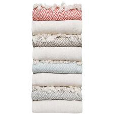 Luxury Chevron Cotton Single Sofa Throw Blanket, Grey, 50 x 60 Inch, Pack of 2