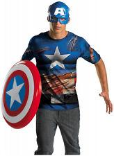 Adult Mens Marvel CAPTAIN AMERICA Easy Costume NEW XL (42-46) Avengers 11633D