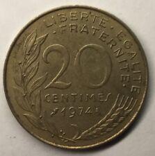 F.156 Monnaie Française 20 Centimes Marianne 1974 Achat Unitaire
