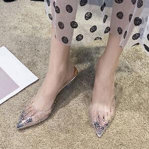 Ladies Plexiglass Transparent Party Court Shoes Women Stiletto Heels