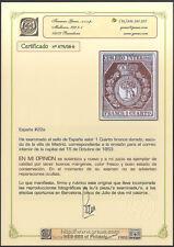 ESPAÑA - NUM 22a * ESCUDO  MADRID - CERTIFICADO GRAUS - CATÁLOGO: 4.500,- EUROS
