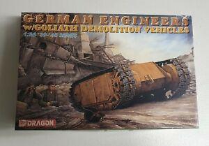 Dragon No. 6103   1:35 German Engineers w/Goliath Demolition Vehicles