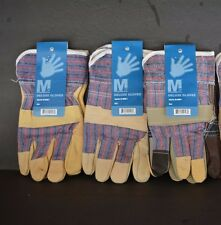 Mg Deluxe Gloves, Leather And Fabric, (Set Of 3 Pairs) Hard Works