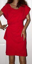 $1110 New THAKOON  Raspberry PINK/RED DRAPED Dress Shift 10 Thakoon Panichgul