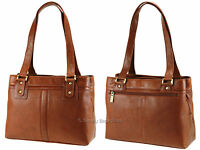 Visconti Ladies Womens Two Strap Soft Real Leather Handbag Shoulder Bag - 19476