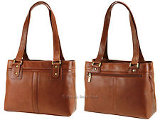 Visconti Ladies Womens Two Strap Soft Real Leather Handbag Shoulder Bag - 19476