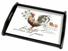 Cala Home Wood Serving Tray, Watercolor Rooster