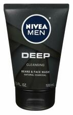 Nivea Men Deep Cleansing Beard & Face Wash - 3.3 oz (100 mL) NEW, UK!