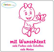 Autoaufkleber Kinder Baby Namenaufkleber Prinzessin Geschwister Babyaufkleber1/7