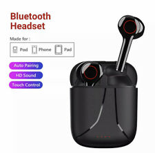 Wireless Bluetooth Earbuds Earphones Stereo Headphones In-Ear Pods With Charging
