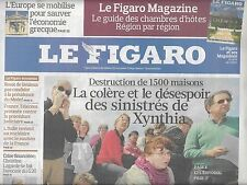 LE FIGARO N°20432 10 AVRIL 2010  XYNTHIA/ DINOSAURES/ SAVOIE-NICE/ GUERRE PROMOS