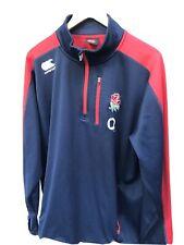 Mens Canterbury England Rugby Zip Neck Long Sleeve Top Shirt Jersey XXL