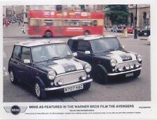 Mini Cooper in The Avengers film original col. Press Photo No. 998 shows 2 cars