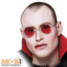 Red Lens Vampire Glasses Adults Fancy Dress Dracula Halloween Costume Accessory