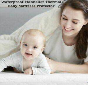 New Flannelette Thermal Waterproof Mattress Protector Cot Cot bed Moses Basket