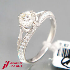 Ring 18K/750 Weißgold-Diamant 0,64ct K/Si1, 72 Diamanten 0,43ct TW-Si  3,28g