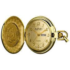 Men's August Steiner AS8019YG Classic Three Hand with Date Quartz Pocket Watch