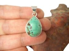 Tibetan   TURQUOISE   Sterling  Silver  925 Gemstone  PENDANT  -   Gift Boxed!