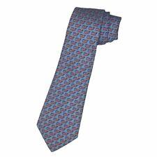 Vineyard Vines Boys Youth Blue American Flag Whale Design 100% Silk Necktie Tie