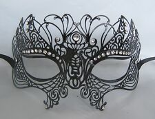 Black Filigree Metal Venetian Party Masquerade Mask No 22