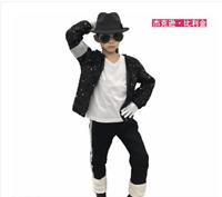 7Pcs Children's Unisex Michael Jackson Cosplay Set MJ  Outfit 7Pcs