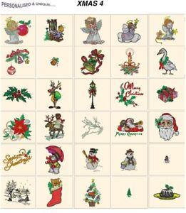 XMAS 4. CARD jef files for janome 300e machine embroidery designs holidays