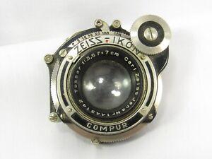 VINTAGE CARL ZEISS JENA IKON TESSAR 1:3.5 f=7cm lens
