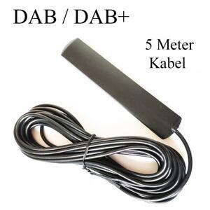 ✅ DAB RADIOANTENNE SMA STECKER DAB+ Antenne Autoradio Digital Antennenkabel 5M ✅