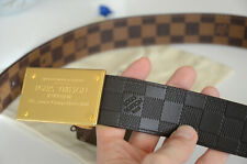 Authentic Louis Vuitton Neo Inventeur Reversible 40MM Belt Gold Buckle SZ 90 LV