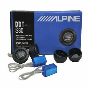 "ALPINE DDT-S30 25MM 1"" SOFT DOME BALANCED CAR TWEETERS 360W CROSSOVERS Systems"