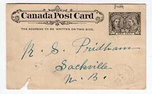 Canada PEI Prince Edward Island - 1898 PE Island MC / BOAT - RPO / Ship Cancel