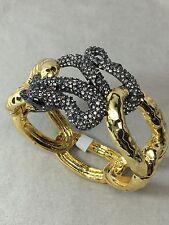 NEW Alexis Bittar Serpent Snake Crystal Encrusted Hinge Bangle Bracelet $375