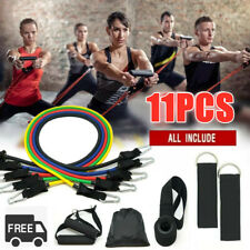 11PCS Resistance Bands Set Exercise Yoga Fitness Workout Training Strength Tube