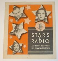 Vintage 1930's Miles  Laboratories Stars of Radio Advertising Booklet Pick & Pat