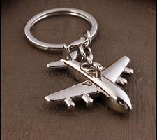 3D Fashion Simulation Model airplane plane Keychain Keyring Key Chain Ring New