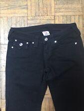 Rock And Republic Black Straight Rhinestone Embellished Pockets Jeans Size 26