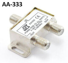 2-Way Coaxial Signal Premium Splitter, for cable/antenna signal to TV's/VCR