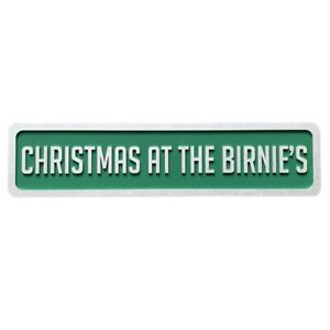 Festive personalised family Christmas street sign, family sign, signage new home