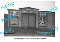 OLD LARGE PHOTO SYDNEY SHOWGROUNDS GATE TOOHEYS BEER ADVERTISING c1940