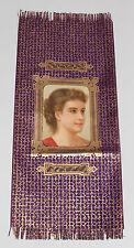 GESCHENKPAPIER PAPIERBOGEN Lithografie Mädchenportrait Golddruck um 1900