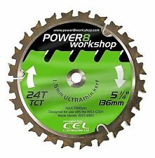 CEL Power8 Workshop Circular Saw Blade (136mm 24t Tct)