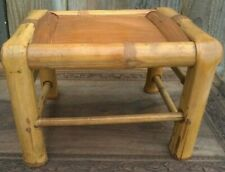 Vintage real Bamboo Plant  Stand side table Mid Century