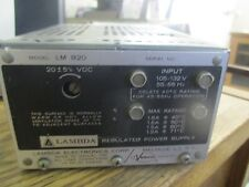 Lambda: LM 820 Regulated Supply w/ LMOV-3 Overvoltage Protector.  Tested Good<