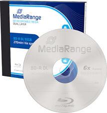 2 MediaRange Blu-ray BD-R DL 50Gb 6x Rohlinge JewelCase