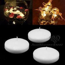 50PCS White Round Floating Candle Disc Floater Candles Wedding Party Home Décor