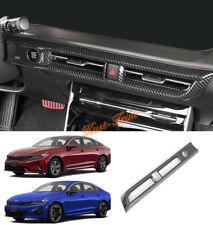 Fit FOR 2021 KIA K5 Sedan  Carbon Fiber ABS Middle Air Vent Outlet Cover Trim