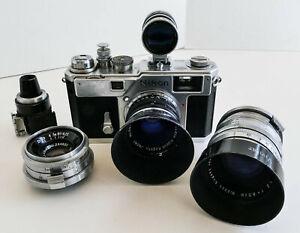 Nikon S3 Rangefinder, Three Lenses, Two Finders